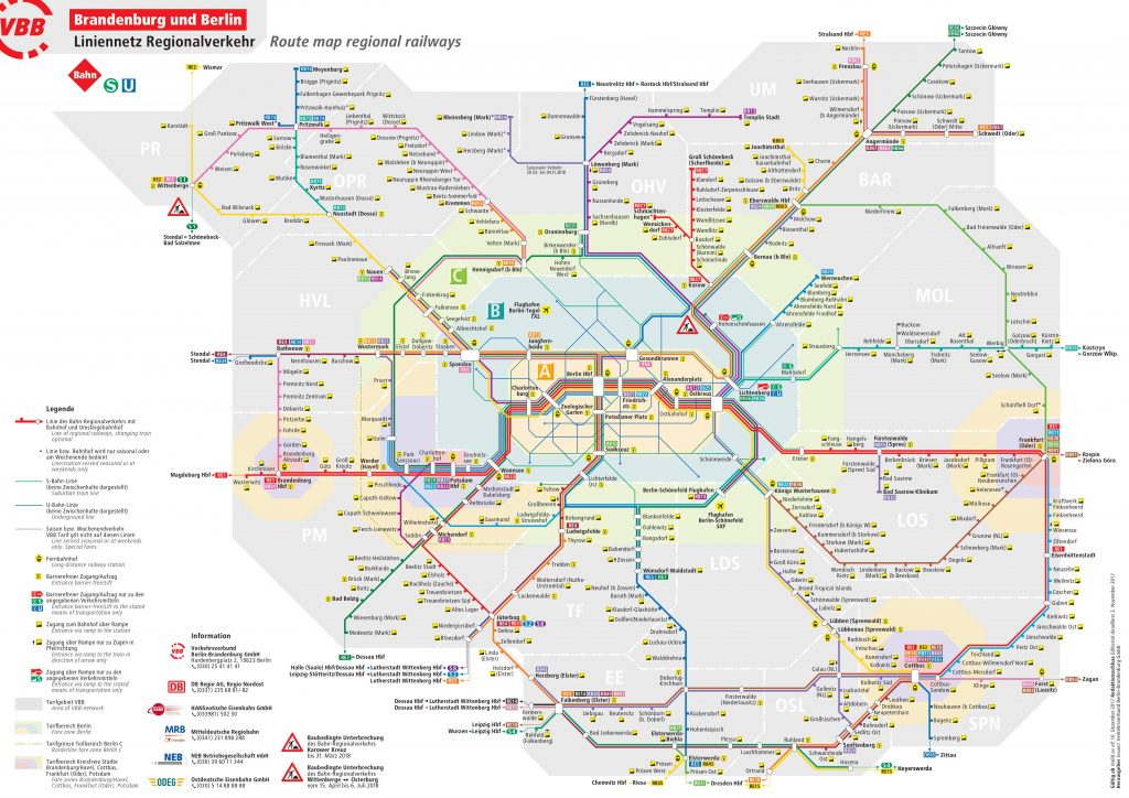 Berlin Regional transport map
