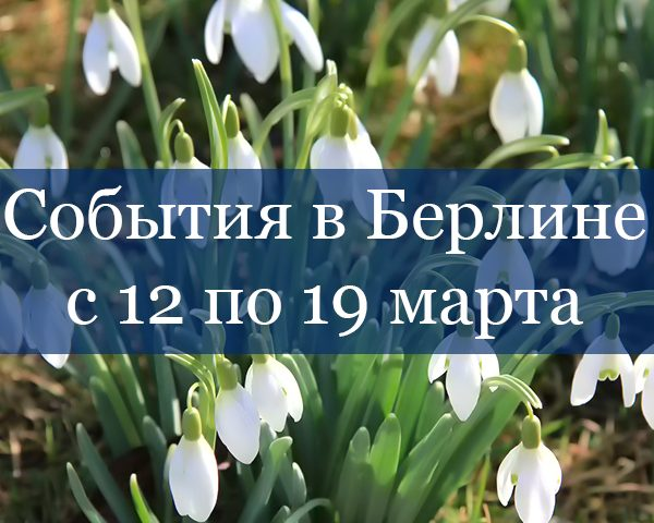 Snowdrops Events 12-19 March